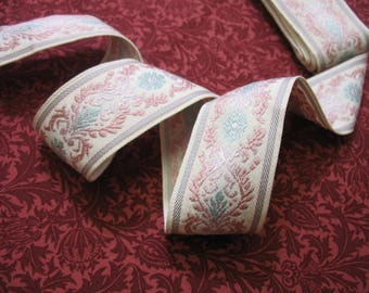Vintage French Embroidered  Ribbon Braid 1.6 meters