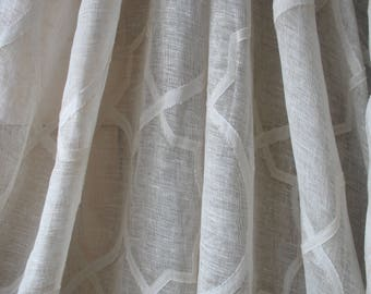 colefax and fowler clement extra wide fine linen voile fabric price per meter