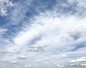 Cloudscape photograph. 12x18 cloud photograph. Cloud photography. Nature photography. Clouds and sky.