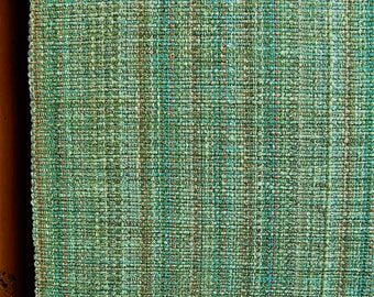 Seafoam turquoise handwoven table runner
