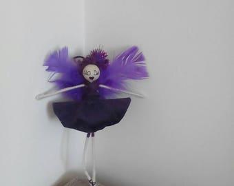 Fairy doll, flower fairy Fairy Tyrian, purple fairy, wire fairy