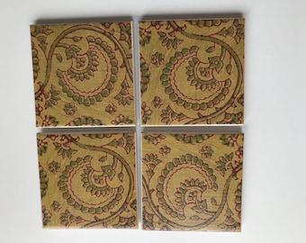 Eccentrica ceramic tile coasters