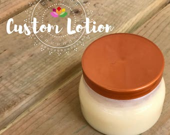 Custom All Natural Lotion // Essential Oils // Raw Shea Butter // Coconut Oil // Customize // Beauty // Skin Care