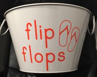Flip Flop Poolside Storage Bucket
