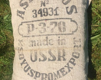 Russian grainbag pillow vintage ASBESTOS USSR true vintage heritage cushion reference