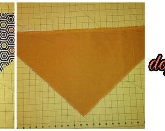 Double sided doggie bandana.