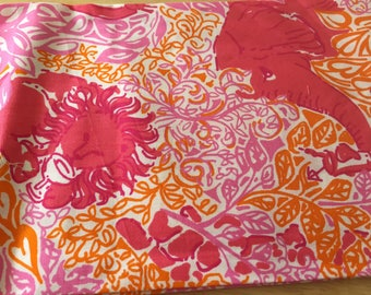 Lilly Pulitzer African Animal Party Printed Fabric