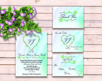 Boho Wedding Invitation Suite - Arrow Wedding Invitation Set - Printable Wedding Invitation - Wedding Invitation PDF - Printable Wedding