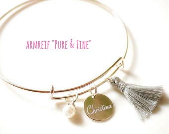 Bangle ~ pure & fine ~ silver with engraving