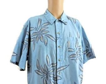 Columbia 100% Cotton Hawaiian Syle Shirt Size Medium