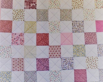 Pink squares quilt