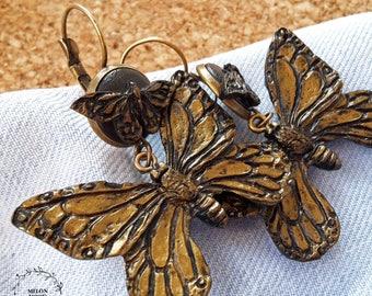Butterfly earrings, Polymer clay earrings, Polymer clay jewelry, Handmade jewelry, Gift idea