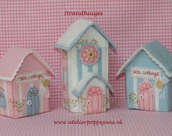 Beach huts of felt-Handicraft package