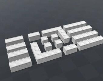 x16 - Hesco Bastion - Standard Fortification