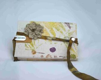 "Nature Printed Handmade Coptic Stitch Binding Journal - ""Winter Fronds"""