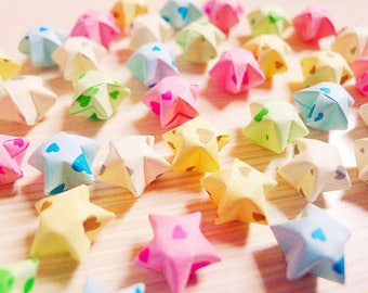 Cute Sweet Hearts Origami Lucky Stars - Wishing Stars,Party Supply,Home Decor,Gift Enclosure,Embellishment