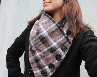 Plaid Flannel and Fleece Scarf!