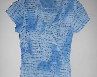 Jaipur women's cap sleeve V-neck top size L
