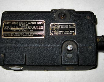 Bell & Howell 16mm N-6 Gun Sight Aim Point (GSAP) Camera with Film Cartridge