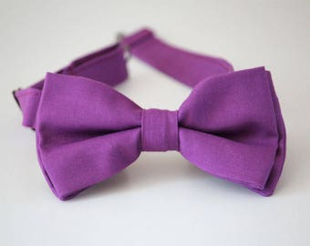 Purple bow tie, mens purple bowtie, boys purple bow tie, wedding bow tie, groomsmen bow tie, ring bearer bow tie, father and son bowties