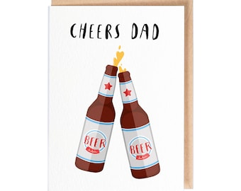 Cheers Dad! - Greeting Card - Fathers day card - Folio - thisisfolio