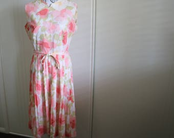 Vintage 1960s Stacy Ames floral dress