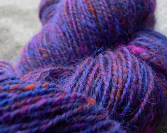 India - Wool, Yarn, Handspun yarn, Art Yarn, Hand painted wool yarn, Handmade wool yarn, Hand dyed, Natural fibre, Handmade fibre, Knitting