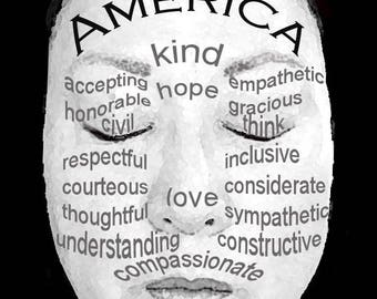 Make America Kind/Hope/Love Again pack of 10 postcards