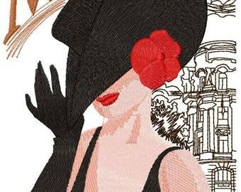 Madrid  coquette machine embroidery design