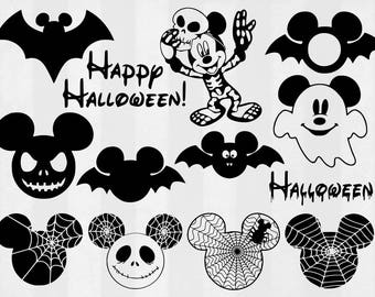 Mickey Halloween SVG Bundle, Halloween clipart, Disney cut files, svg files for silhouette, files for cricut, svg, dxf, eps, cuttable design