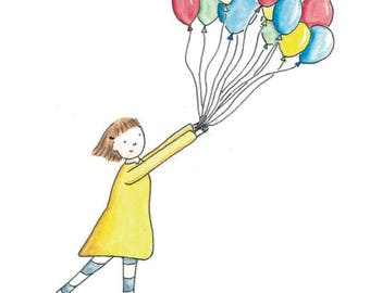 Greetings Card- 'Balloons'