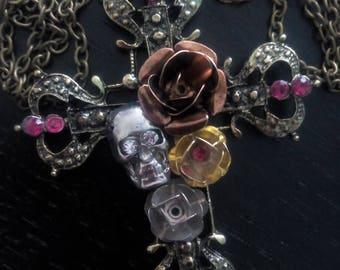 Collar Skull flowers