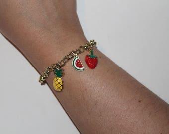 Tutti Frutti Adjustable Charm bracelet