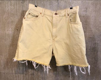 Yellow Vintage Levi's Denim Shorts