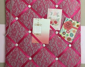 Pink Lace Memo Board