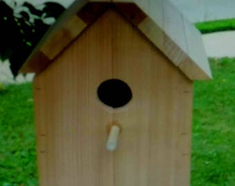 Bird House , Cedar Bird House , Nest Box , Blue Bird House , Wooden Bird House