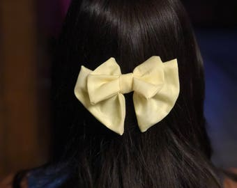 Pastel Yellow Bow