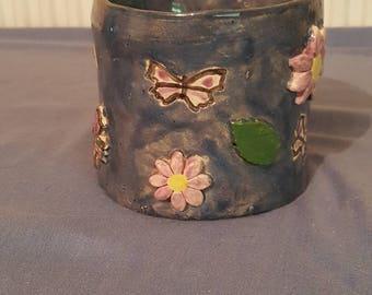 Blue decorative mug