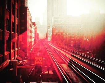 Chicago Brown Line Train Tracks Canvas