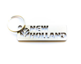 NEW HOLLAND stainless steel hand polished keychain