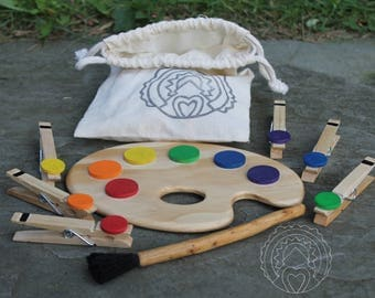 Artist Palette Color Sorting Toy
