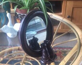 Adorable mini cat mirror