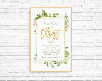 2018 LDS Youth Theme - Peace In Christ D&C 19:23 - Instant Download - 11x17