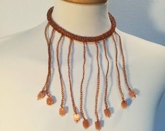 Copper wire Choker necklace