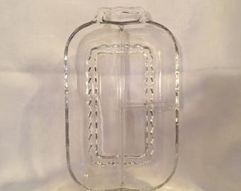 Vintage divided glass dish.
