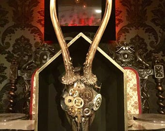A box/wall hanging steampunk Roe deer