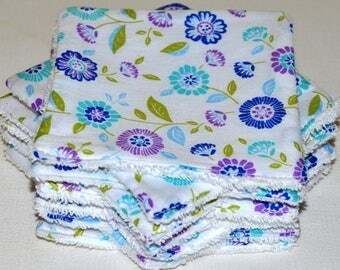 11 large wipes washable cotton/Terry 12 x 12 cm