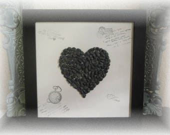 "frame ""my heart"" in rhinestones"