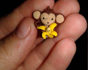 Kawaii polymer clay Monkey