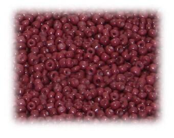 11/0 Deep Red Opaque Glass Seed Beads, 1 oz. bag